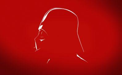 Darth Vader, Star wars, villain, minimal