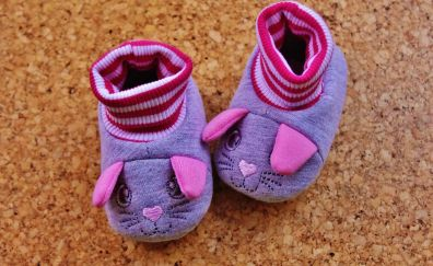 Baby shoes, pink