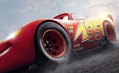 Lightning McQueen, cars 3, animated movie, HD