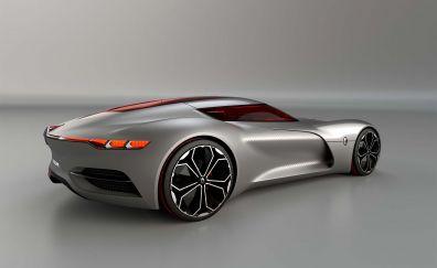Renault TREZOR Concept silver car