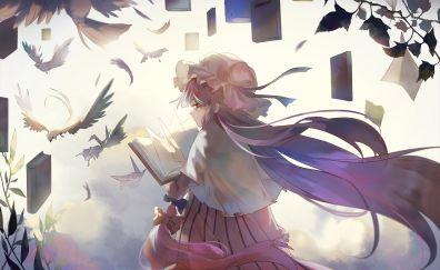Anime girl, Patchouli Knowledge, Touhou