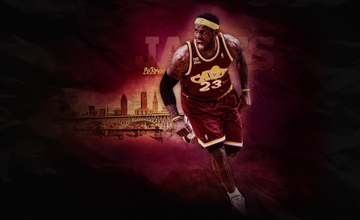Lebron James basketball player of cleveland cavaliers wallpaper
