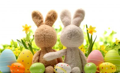 Easter eggs, bunny, toys, holiday