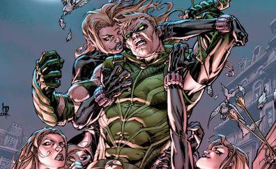Green arrow, fight, marvel comics
