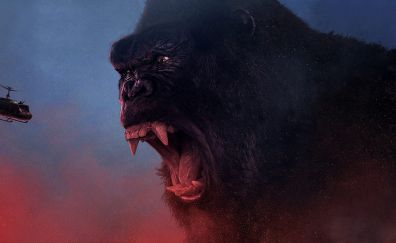 Kong: skull island, 107 movie, big gorilla