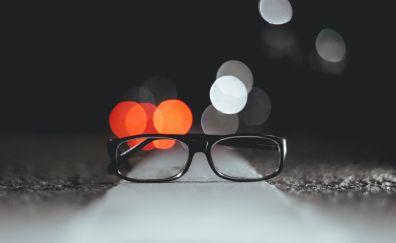 Glasses, glare, lights, bokeh