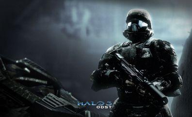 Soldier, dark, Halo 3: ODST, video game