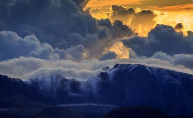 Haleakala, Aaui mountain, volcano, island, hawaii
