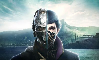 Corvo Attano, Emily Kaldwin, Dishonored 2, game, face