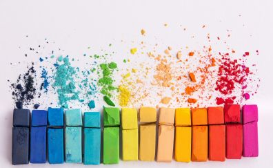 Chalk, colorful, dust