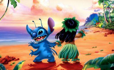 Lilo and stitch, cartoon, dance