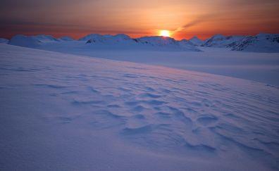 Sunrise, Harding ice fields, nature