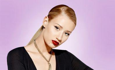 Iggy Azalea, red lips, makeup