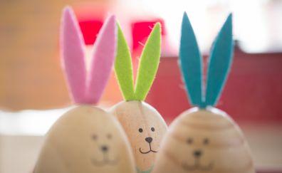 Easter eggs, bunny, toys