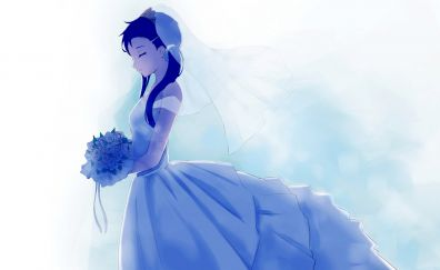 Wedding dress, Kosaki Onodera, Nisekoipedia, anime girl