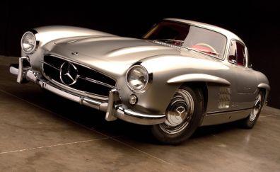 Mercedes-Benz 300 SL, classic car, 4k