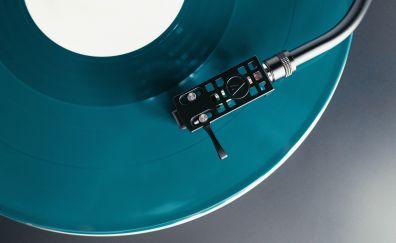 Vinyl turntable cartridge, record