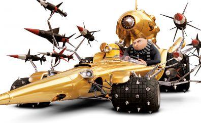Gru's car, Despicable me 3, animation movie, 4k, 8k
