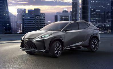 Lexus LF-NX hybrid concept car, front view