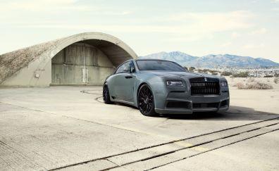 Luxury car, Rolls-Royce wraith car, side view