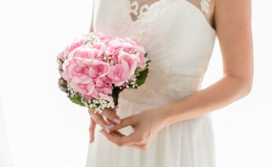 Wedding bouquets, flowers, pink