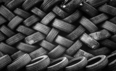 Tires monochrome