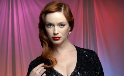 Christina Hendricks, red head, celebrity, 2017