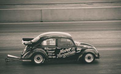 Retro, sports car, race
