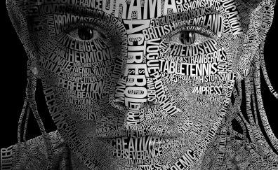 Emma watson face typography artwork