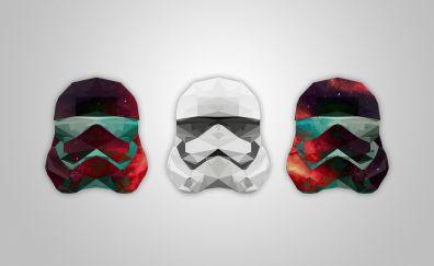 Stormtrooper, low poly, artwork, helmet