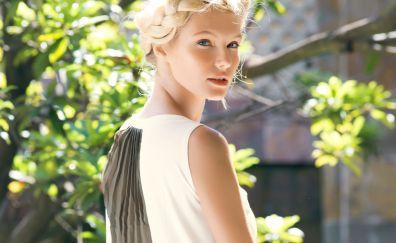 Gintare Sudziute, blonde, celebrity, Fashion model