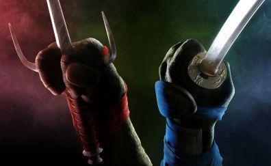 Swords in hands