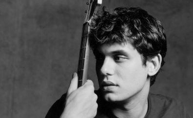 John Mayer, celebrity, monochrome