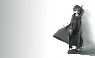 Kirito, sword art online, anime boy