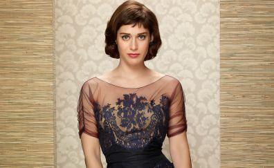 Lizzy Caplan, brunette actress, popular celebrity