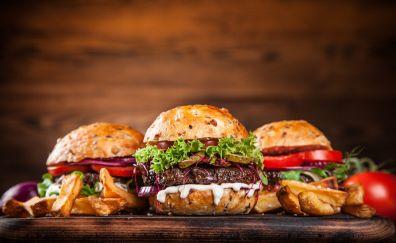 Burger, food, fast food