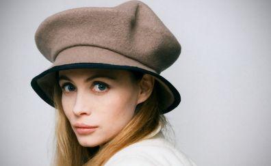 Emmanuelle Beart wearing hat