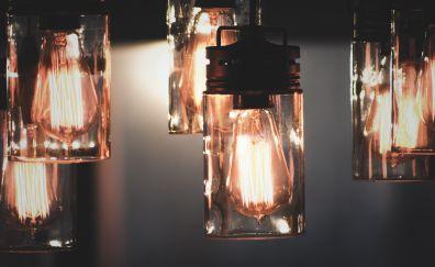 Tungsten, light bulb, lamp, 5k