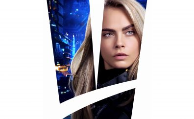 Cara Delevingne as Laureline in Valerian and the city of a thousand planets, movie, actress