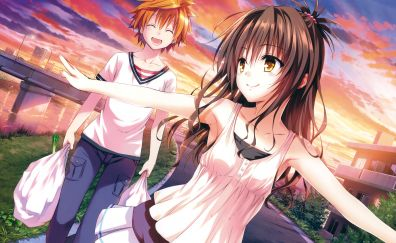Mikan Yuuki, Rito Yuuki, anime couple, To LOVE-Ru