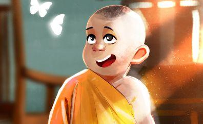 Small cute monk, artwork
