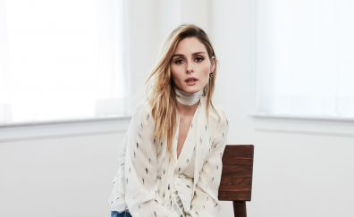 Olivia Palermo, sit, blonde, model