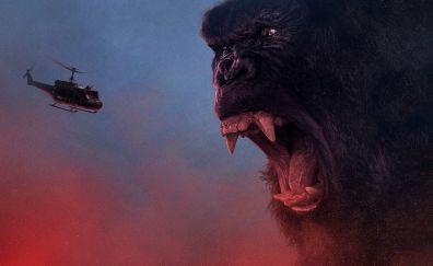 2017 movie, Kong: skull island, angry kong