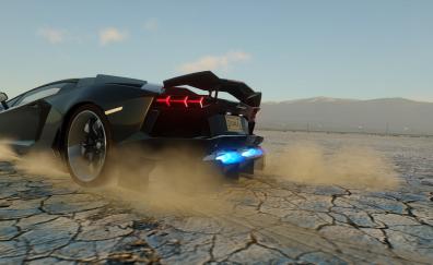 Lamborghini aventador in The Crew: Wild Run video game wallpaper
