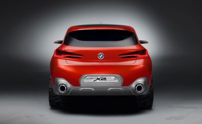 2018 BMW X2 concept car, rear view