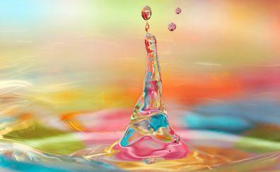 3d colorful water drop splash