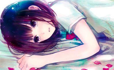 Sad Hanabi Yasuraoka, anime girl