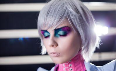 Makeup on girl face