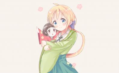 Chiya, Urara meirocho, blonde anime girl