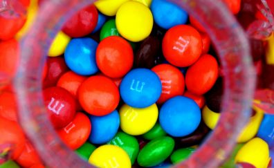 Candy, colorful candy in jar